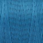 Gewachstes Band in Baumwolloptik (100cm), 1mm X 0,4mm breit, safirtürkis