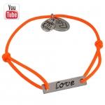 Video Anleitungung elastisches Armband mit Love Charms