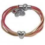 Anleitung Armband mit Herz-Großlochperle