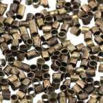 Quetschperle (500 Stück), 1,5X1,5mm, Zylinder, bronzefarben