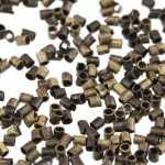 Quetschperle (500 Stück), 1,2X1,2mm, Zylinder, bronzefarben