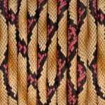 Geprägtes Kunstlederband, 5mm, 50cm, natur-pinkfarben