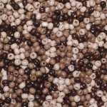 Holzperlen Mix (10 Gramm, ca. 140 Stück), ca. 6 mm, natur, hellbraun, dunkelbraun