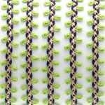 Fantasieband mit Schlaufen, 100cm, 10mm breit, hellgrün (bunt)