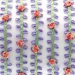 Fantasieband mit Schlaufen, 50cm, 10mm breit, violett-rosa (bunt)