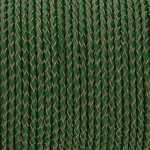 Geflochtenes Lederband (50cm), 3mm breit, rund, dunkelgrün