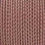 Geflochtenes Lederband (50cm), 3mm breit, rund, rosa