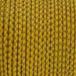Geflochtenes Lederband (50cm), 3mm breit, rund, gelb