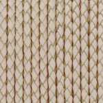 Geflochtenes Lederband, 50cm, 5mm breit, naturweiß