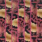 Geprägtes Kunstlederband, 10X2mm, 60cm, natur-pinkfarben