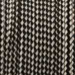 Geflochtenes Lederband (50cm), 3mm breit, schwarz-weiß