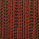 Geflochtenes Lederband (50cm), 3mm breit, schwarz-rot