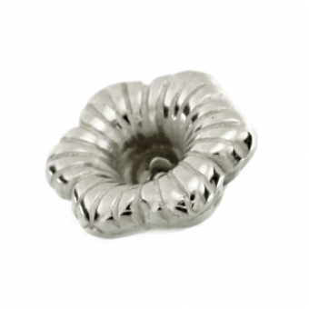 Perle, 10mm, Blume, silberfarben