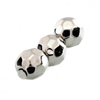 Perle, 5mm, rund, silberfarben