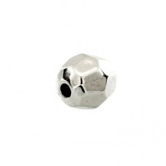 Perle, 6mm, rund, silberfarben