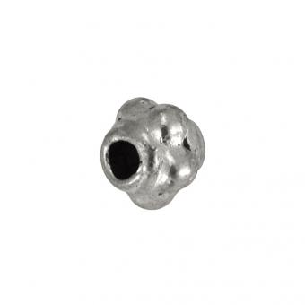 Metallperle (10 Stück), 3mm, silberfarben