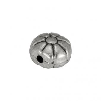 Metallperle, 6mm, silberfarben