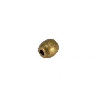 Metallperle (10 Stück), 4mm, bronzefarben