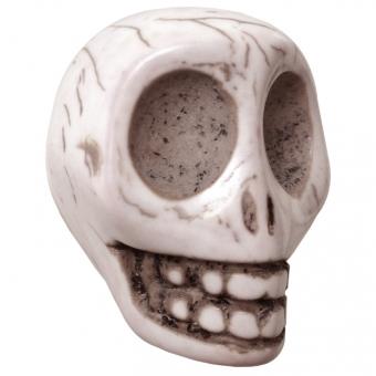 Große Motivperle, 32X25mm, Totenkopf, eierschalen weiß eierschalen weiß