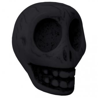 Große Motivperle, 32X25mm, Totenkopf, schwarz schwarz