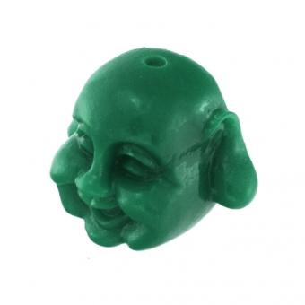 Motivperle, 12X8mm, Buddha, dunkelgrün dunkelgrün