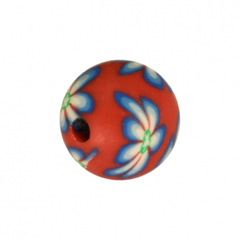 Fimoperle, 8mm, rund, rot