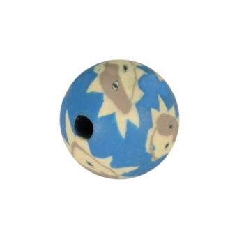 Fimoperle, 8mm, rund, blau