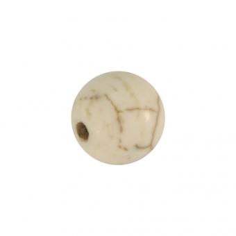 Perle in Marmoroptik, 8mm, eierschalen weiß