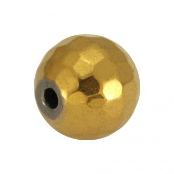 Hematitperle (facettiert), 10mm, goldfarben