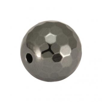 Hematitperle (facettiert), 10mm, antik silberfarben