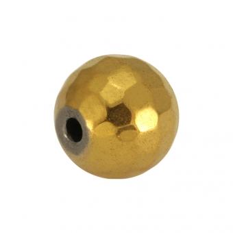 Hematitperle (facettiert), 8mm, goldfarben