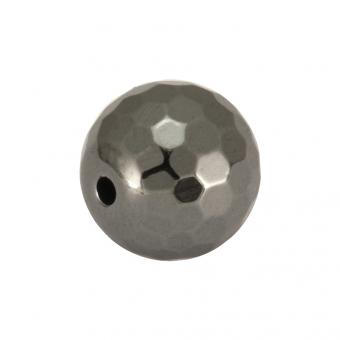 Hematitperle (facettiert), 8mm, antik silberfarben