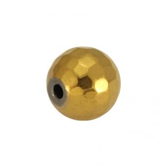 Hematitperle (facettiert), 6mm, goldfarben