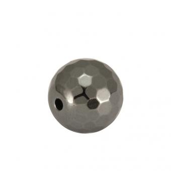 Hematitperle (facettiert), 6mm, antik silberfarben