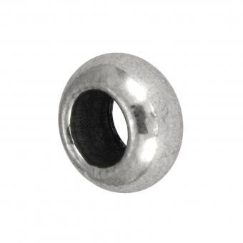 Großlochperle, Metall, 10mm, silberfarben
