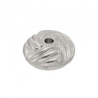 Perle, 10X5mm, oval, silberfarben