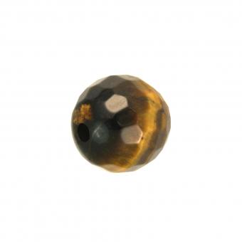 Tiegerauge (facettiert), 6mm, dunkelbraun