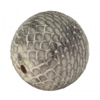 Perle aus Leder, 20mm, rund, naturfarben