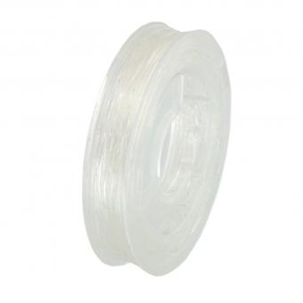 elastisches Band (10m), 0,7mm breit, rund, transparent