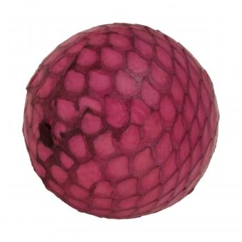 Perle aus Leder, 20mm, rund, pinkpink