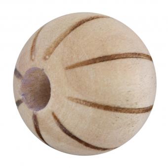 Holzperle mit Muster, 16mm, rund, sand