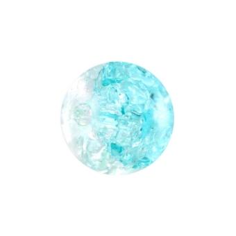 Glasperle in Kristalloptik, 8mm, rund, hellblau-transparent hellblau-transparent