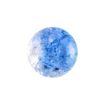 Glasperle in Kristalloptik, 8mm, rund, blau-transparent blau-transparent