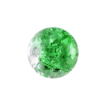 Glasperle in Kristalloptik, 8mm, rund, grün-transparent grün-transparent