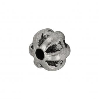 Metallperle, 6X5mm, silberfarben