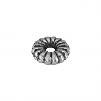 Metallspacer, 5X1mm, Metall, silberfarben