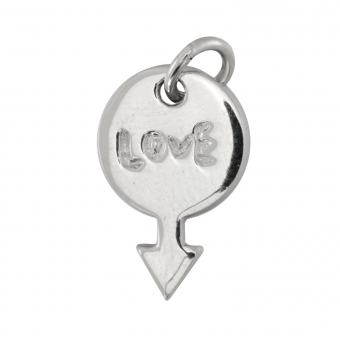 Love-Anhänger, 925 Sterling Silber, 16X10mm