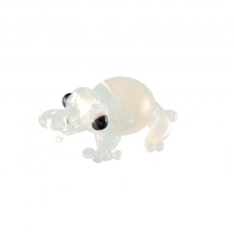 Anhänger aus Glas, 12X8mm, Frosch, transparent