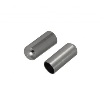 Schmuckkappe, Loch-Ø 1mm, Metall, 6mm, silberfa...