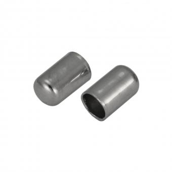 Schmuckkappe, Loch-Ø 2,8mm, Metall, 6mm, silber...